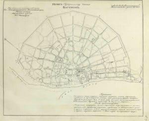 Карта Костромы с Кремлем